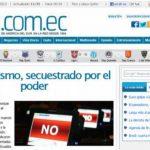 """Captura del artículo del periódico """"Hoy"""", de junio de 2013, que rechaza los alcances de la nueva Ley Orgánica de Comunicación que aprobó el Gobierno de Rafael Correa. foto edh / internet."""