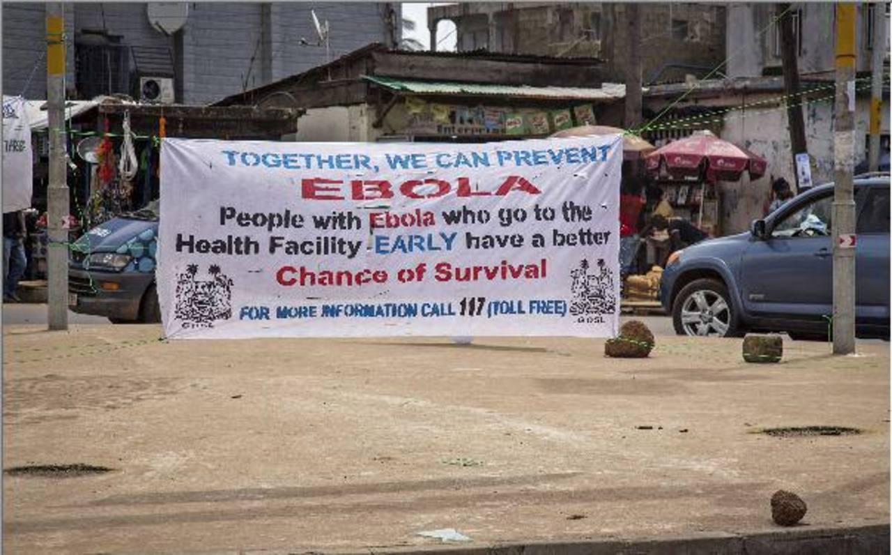 Pancartas preventivas ante la proliferación del virus.