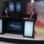 El secretario general del FMLN, Medardo González en entrevista en canal 12.