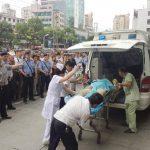 Los heridos fueron llevados a los hospitales cercanos.