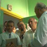 """Los diputados Sigfrido Reyes, Manuel Flores; y el director de la Radio Legislativa, Rigoberto Chinchilla, viajaron a Palestina para """"llevar un mensaje de paz""""."""