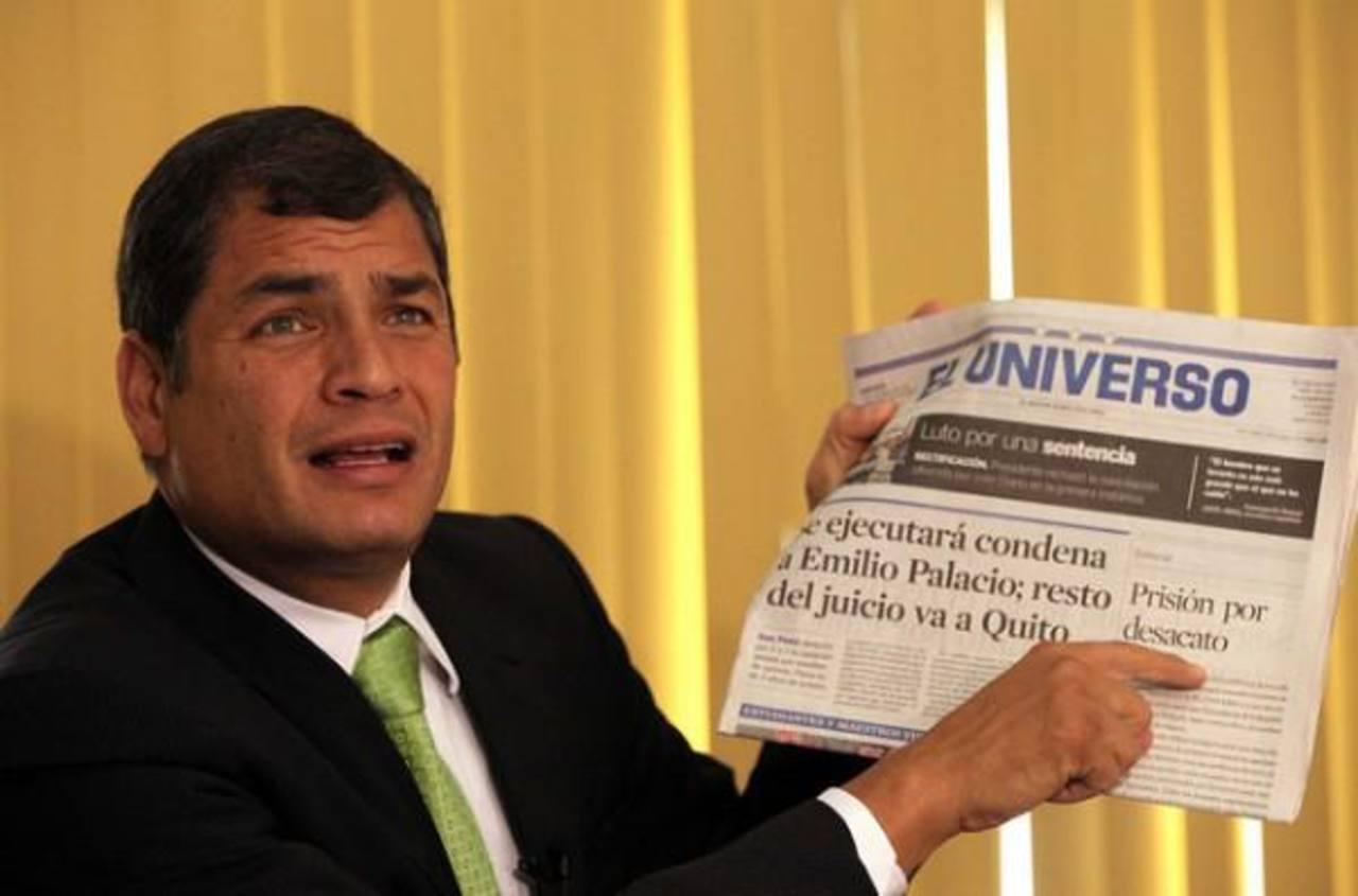El gobernante Rafael Correa, declarado seguidor del Socialismo. foto edh / archivo