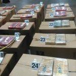 Estos son los paquetes en los que venía oculta la cocaína, según informaron las autoridades.
