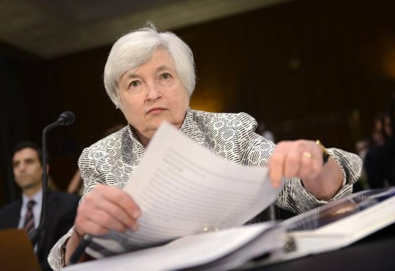 Janet Yellen, presidenta de la Reserva Federal (Banco Central estadounidense), ofrecerá una conferencia el sábado para hablar del fin del Plan de Estímulo y de los intereses. Foto EDH