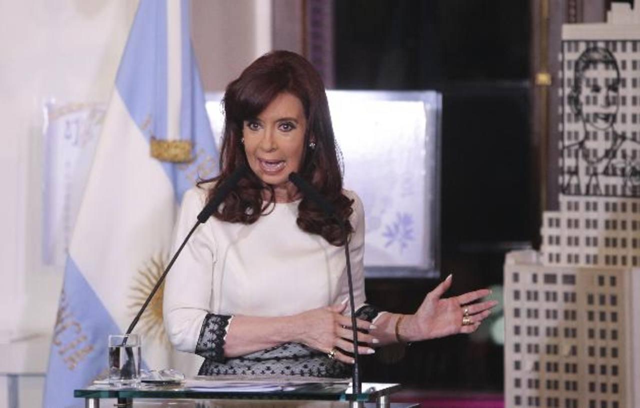 La presidenta de Argentina, Cristina Fernández. edh / archivo