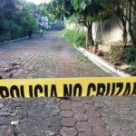 Escena de homicidio en colonia Franco, Cojutepeque.