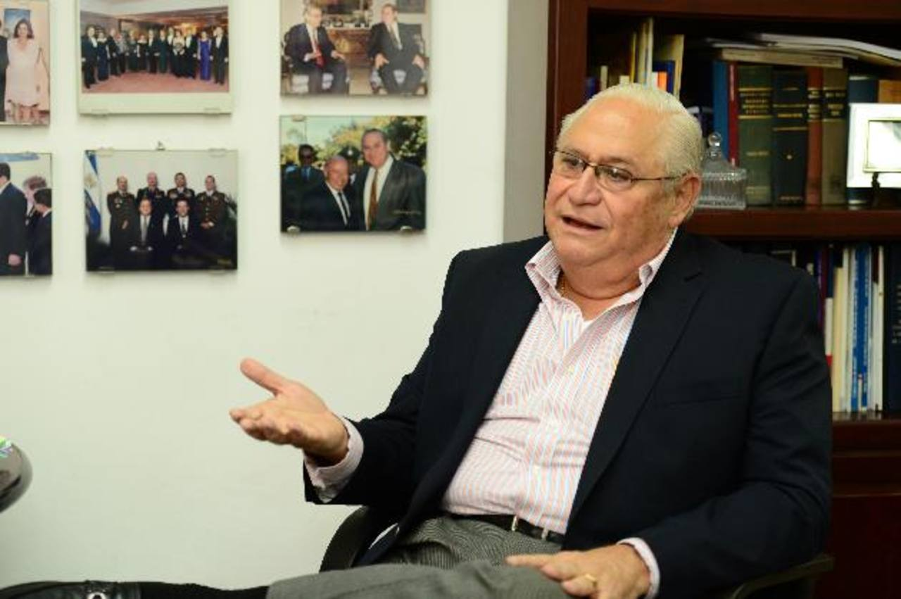 Armando Calderón Sol, expresidente de la República del El Salvador.