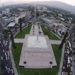 El estudio del Sitramss sugirió que el sistema llegaría o pasaría por la zona de la plaza Salvador del Mundo. Foto EDH / Évelyn linares