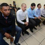 Cinco de los once exseleccionados acusados de amañar partidos dijeron que son inocentes. Foto EDH / Mauricio Cáceres.Fiscales aseguraron que cuentan con suficientes evidencias. Foto EDH / MAURICIO CÁCERES