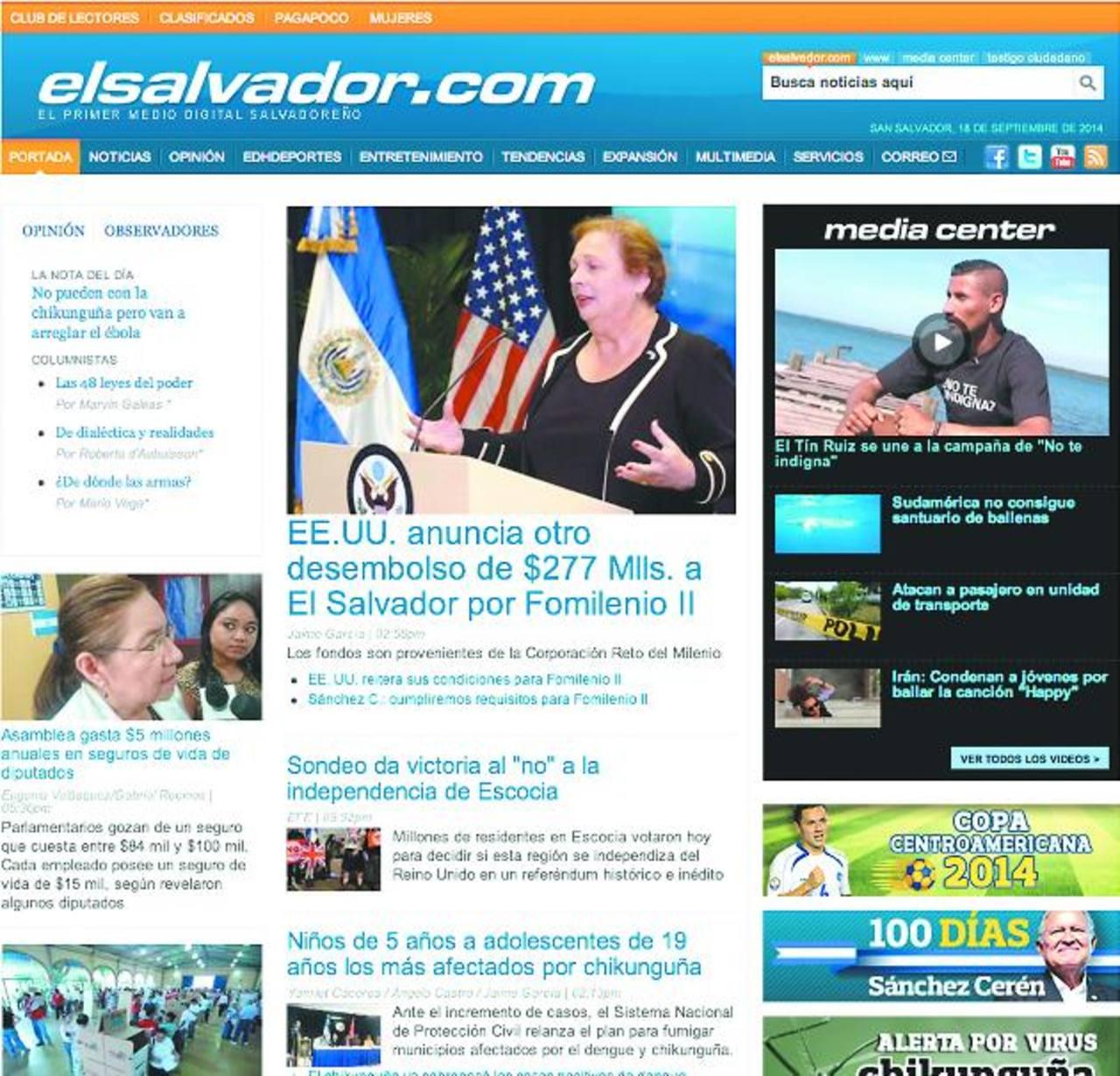 Elsalvador.com entre los mejores medios digitales de la región