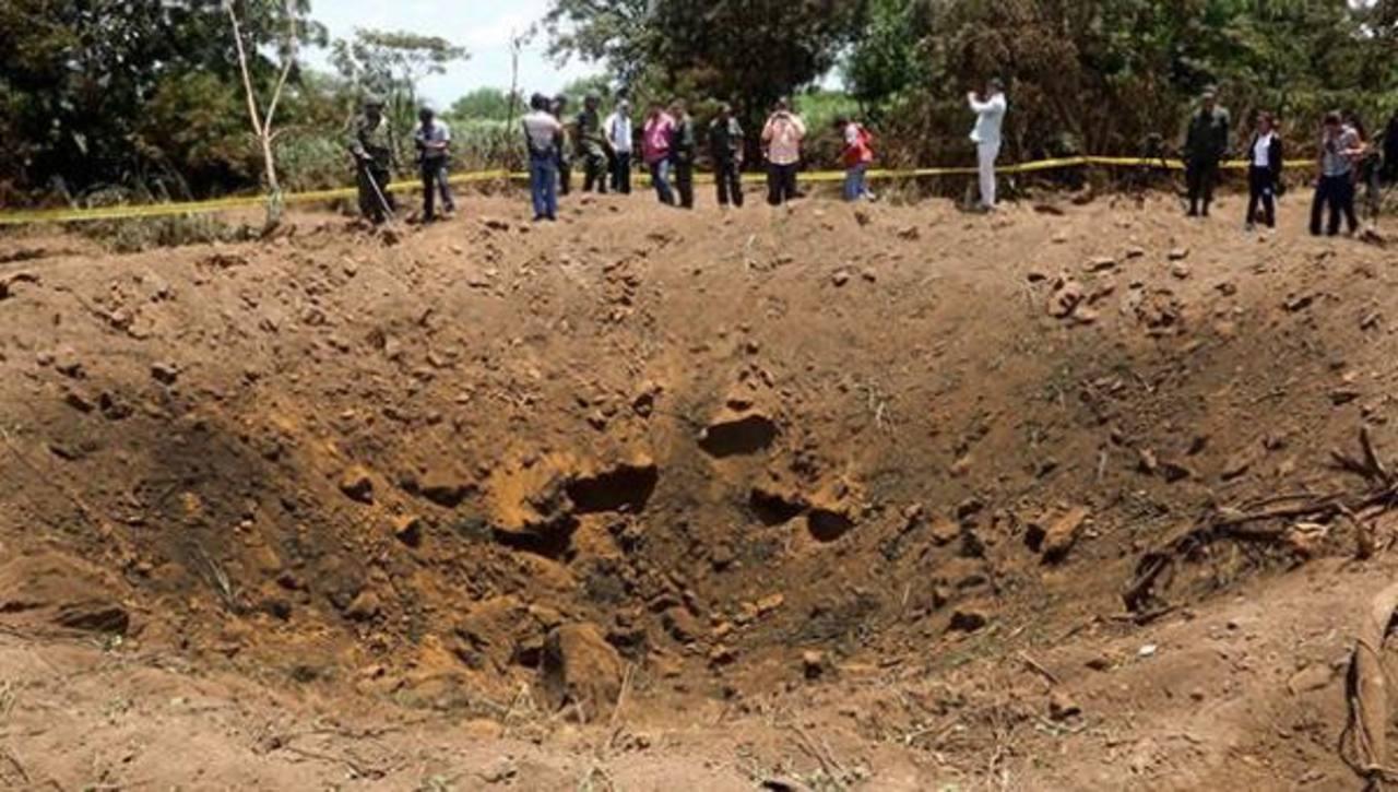El cráter que había dejado el meteorito