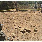 Cráter encontrado en la fuerza aérea.