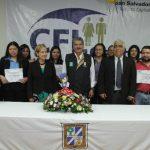 El edil Norman Quijano felicitó a los jóvenes y los invitó a que sigan en capacitación para ampliar sus opciones laborales.