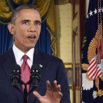 El presidente de EE. UU., Barack Obama, durante su discurso a la nación desde la Casa Blanca. foto edh / reuters.