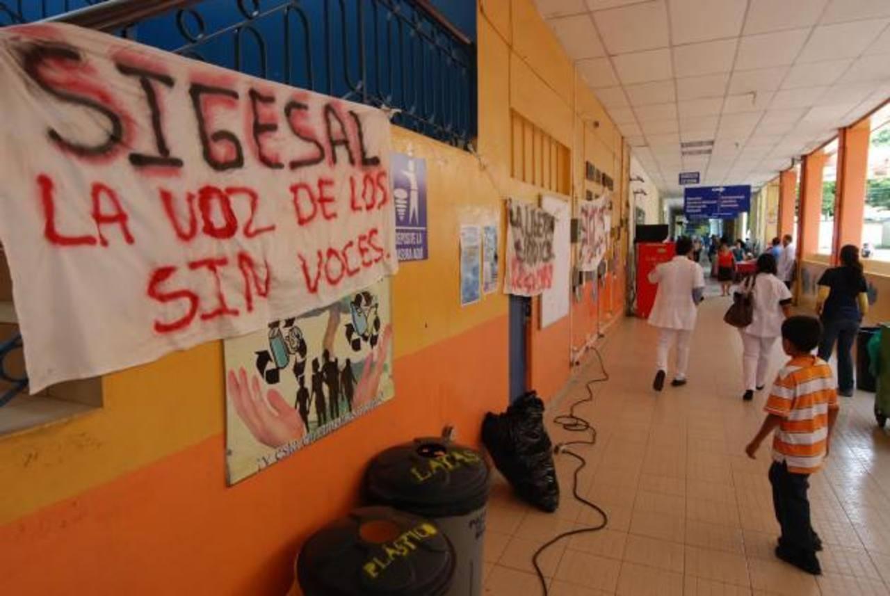 Sindicato ha intensificado este año las acciones contra la administración. Foto EDH / Cristian Díaz
