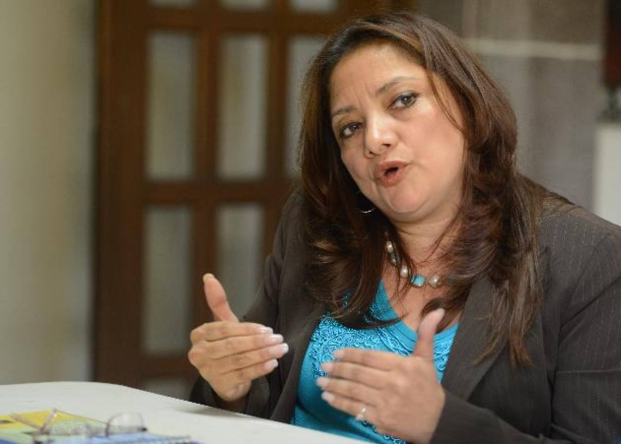 Maritza Villanueva, presidenta del Instituto de Auditoría Interna de El Salvador. Foto EDH / Mauricio Cáceres