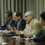 Los magistrados Florentín Meléndez, Sidney Blanco, Belarmino Jaime y Rodolfo González, firmaron el fallo. Foto EDH / Archivo