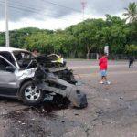 Tres heridos en accidente de tránsito en Chalchuapa