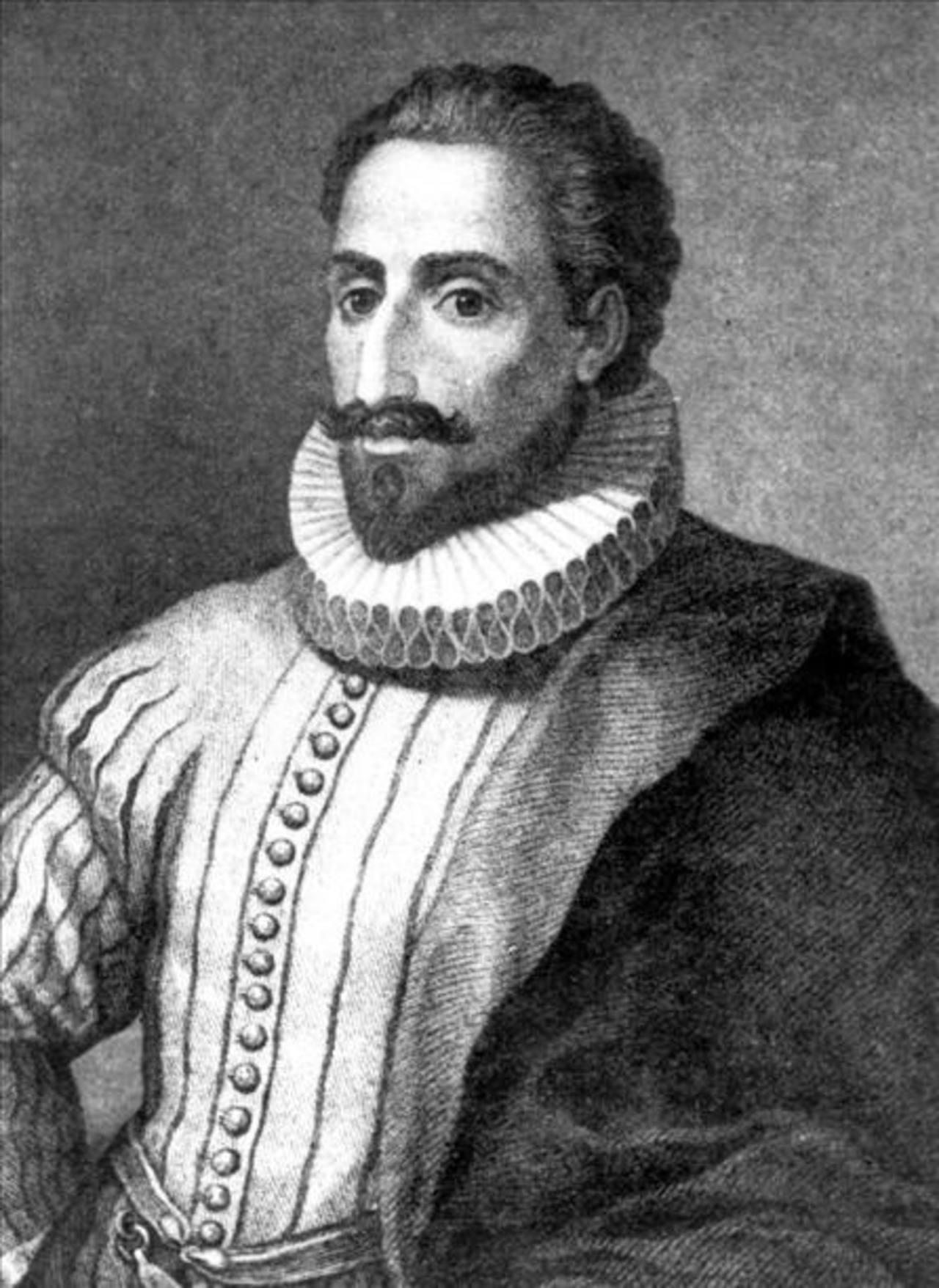 Retrato del escritor Miguel de Cervantes Saavedra.