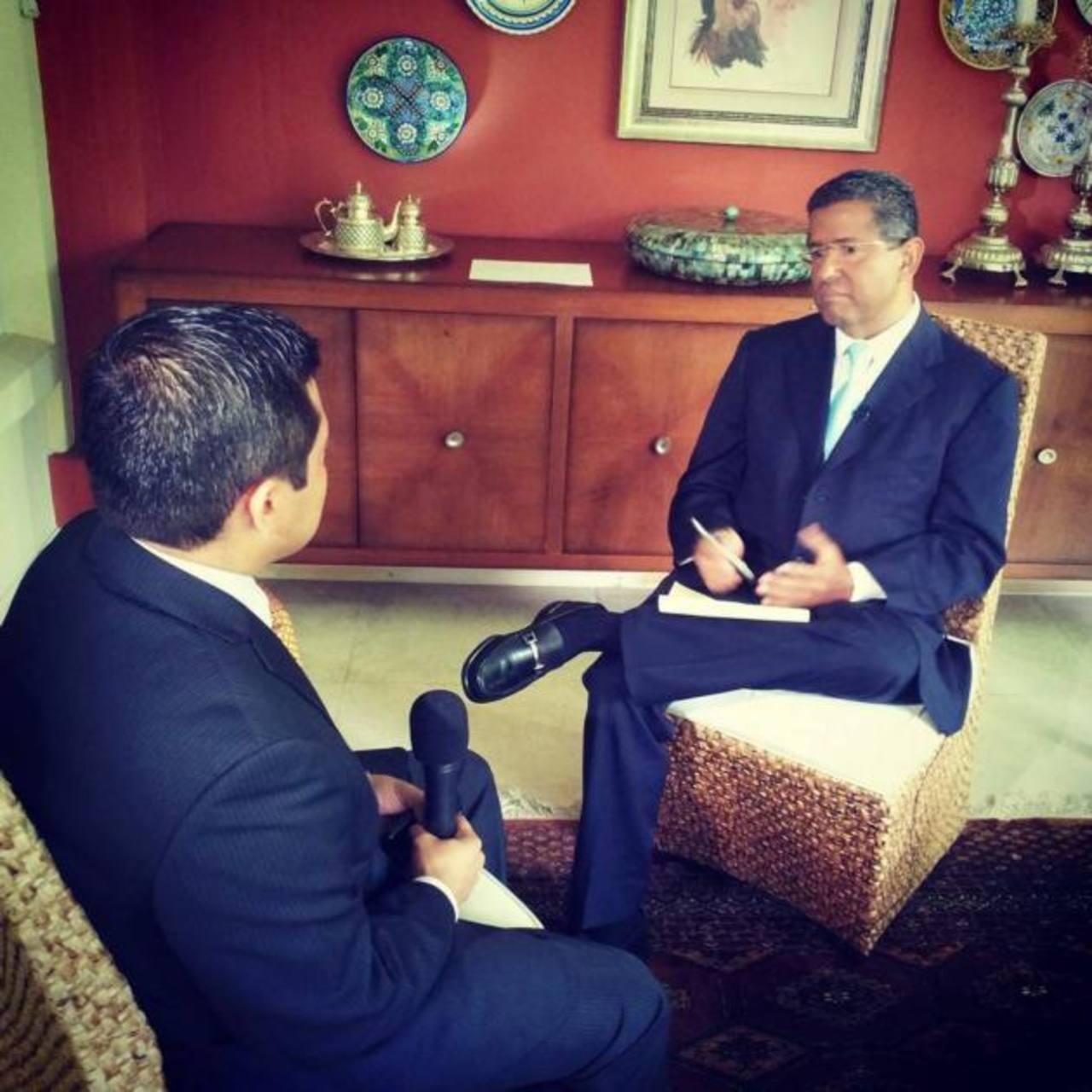El expresidente Francisco Flores fue entrevistado el pasado sábado por CNN, pero hasta ayer se transmitió. foto edh /