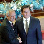 Sigfrido Reyes, presidente de la Asamblea Legislativa y Luis Martínez, fiscal general de la República