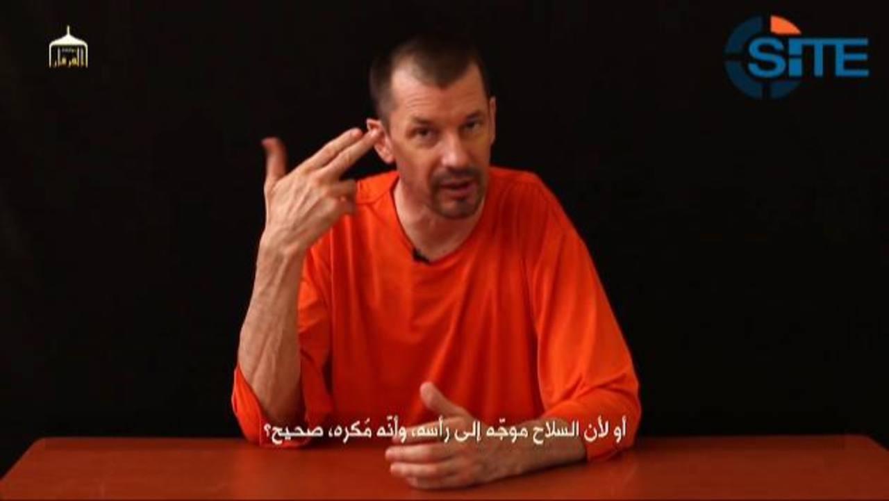 John Cantlie señala que llegó a Siria en noviembre de 2012, donde fue capturado por el Estado Islámico. Foto EDH / REUTERS