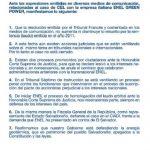 Comunicado de CEL publicado el miércoles pasado en los principales periódicos sobre el litigio internacional con ENEL. Foto EDH/