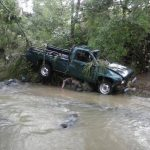 Vehículo en el que se conducían las víctimas en Santa Rosa de Lima.