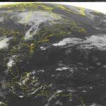 Imagen de satélite tomada el martes 2 de septiembre de 2014 que muestra la formación de la tormenta tropical Dolly en el Golfo de México frente a la península de Yucatán.