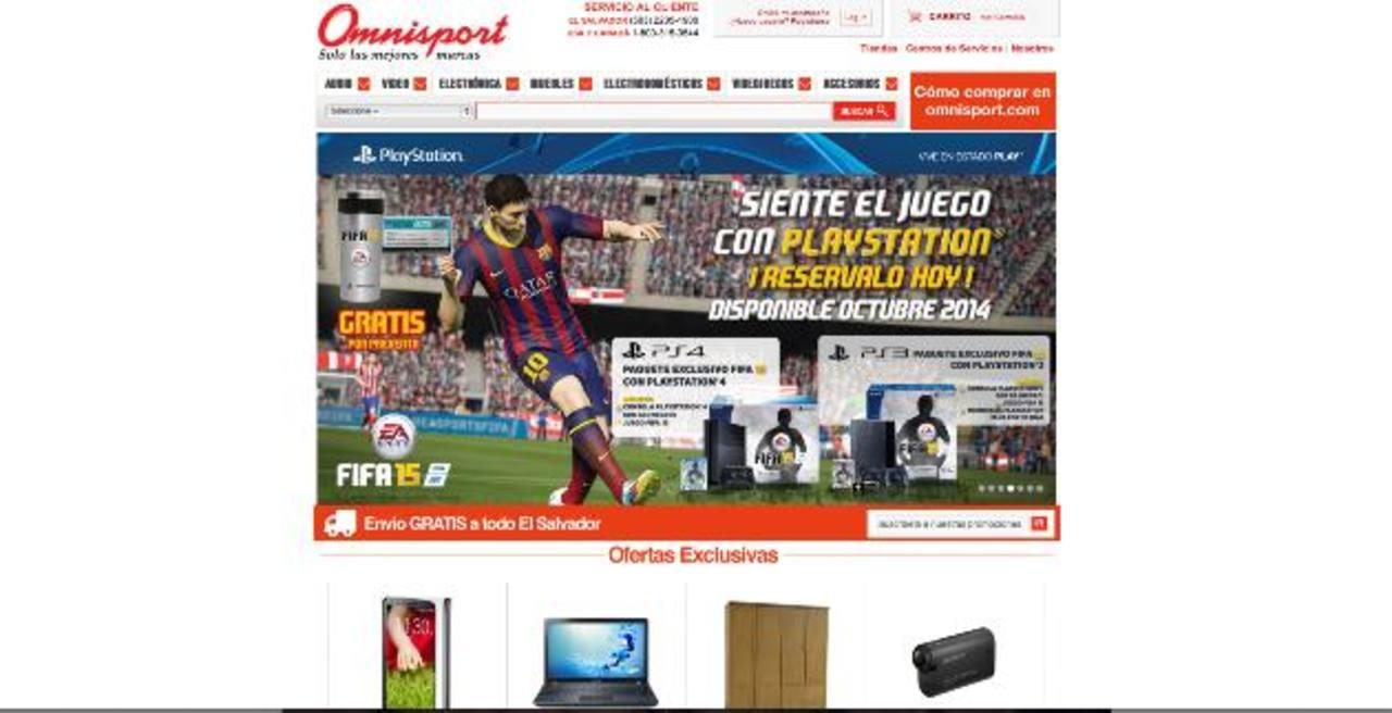 El sitio web de Omnisport permite comprar de forma rápida y segura. Foto EDH / Cortesía