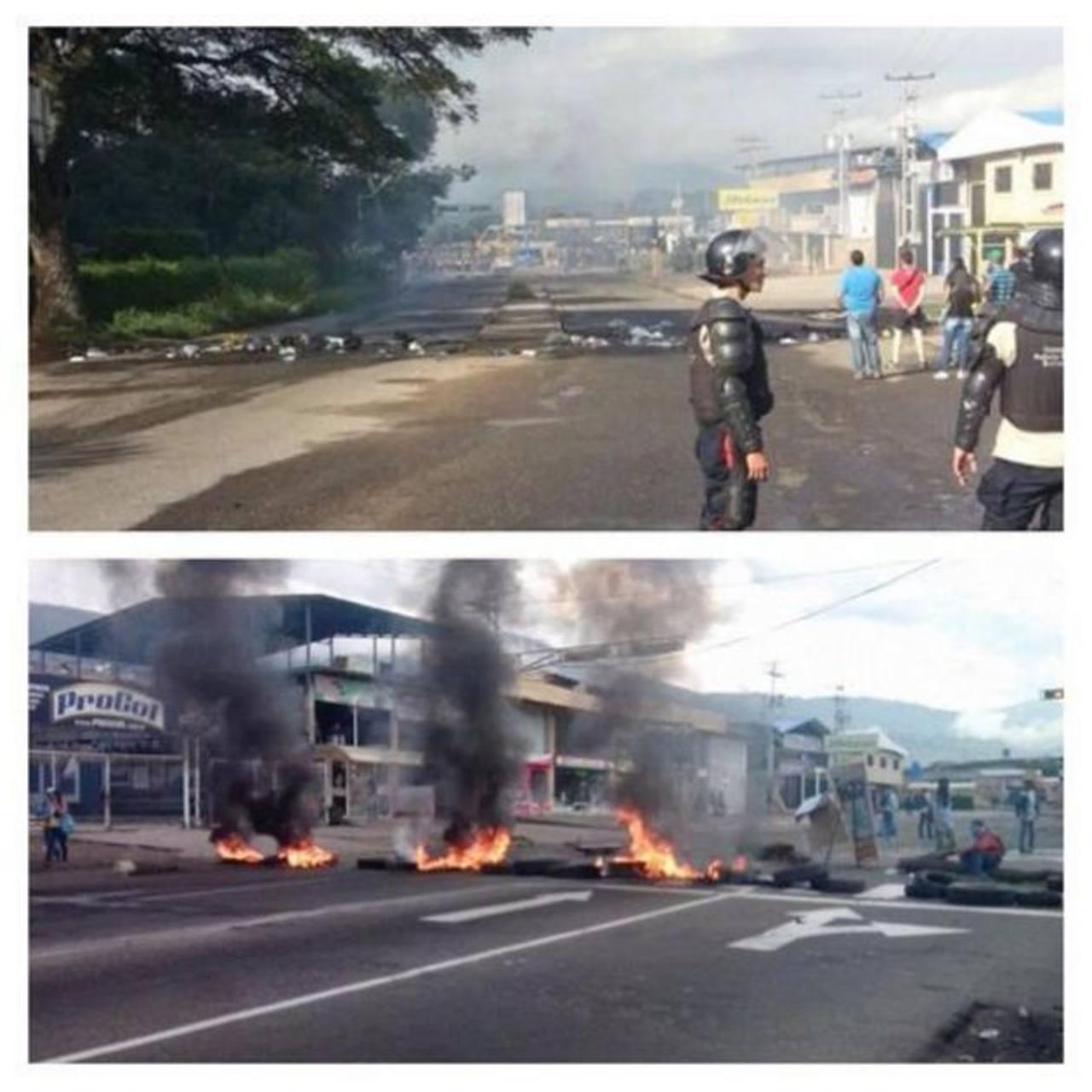 En el estado Táchira continúan las protestas en contra de la iniciativa gubernamental por el uso de las máquinas captahuellas. foto edh /@DsdLaPlaza