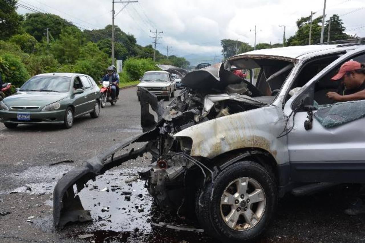 El percance vial ocurrió en la entrada a Chalchuapa. Hombre recién operado salió lesionado.
