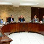 Los magistrados de la Sala de lo Constitucional Sidney Blanco, Florentín Meléndez, Óscar Armando Pineda, Belarmino Jaime y Rodolfo González firmaron la resolución de ayer. Foto EDH