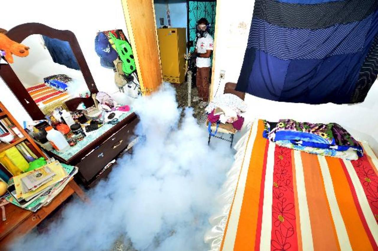 Con la fumigación en las viviendas se busca matar los zancudos adultos. Foto EDH / Felipe Ayala