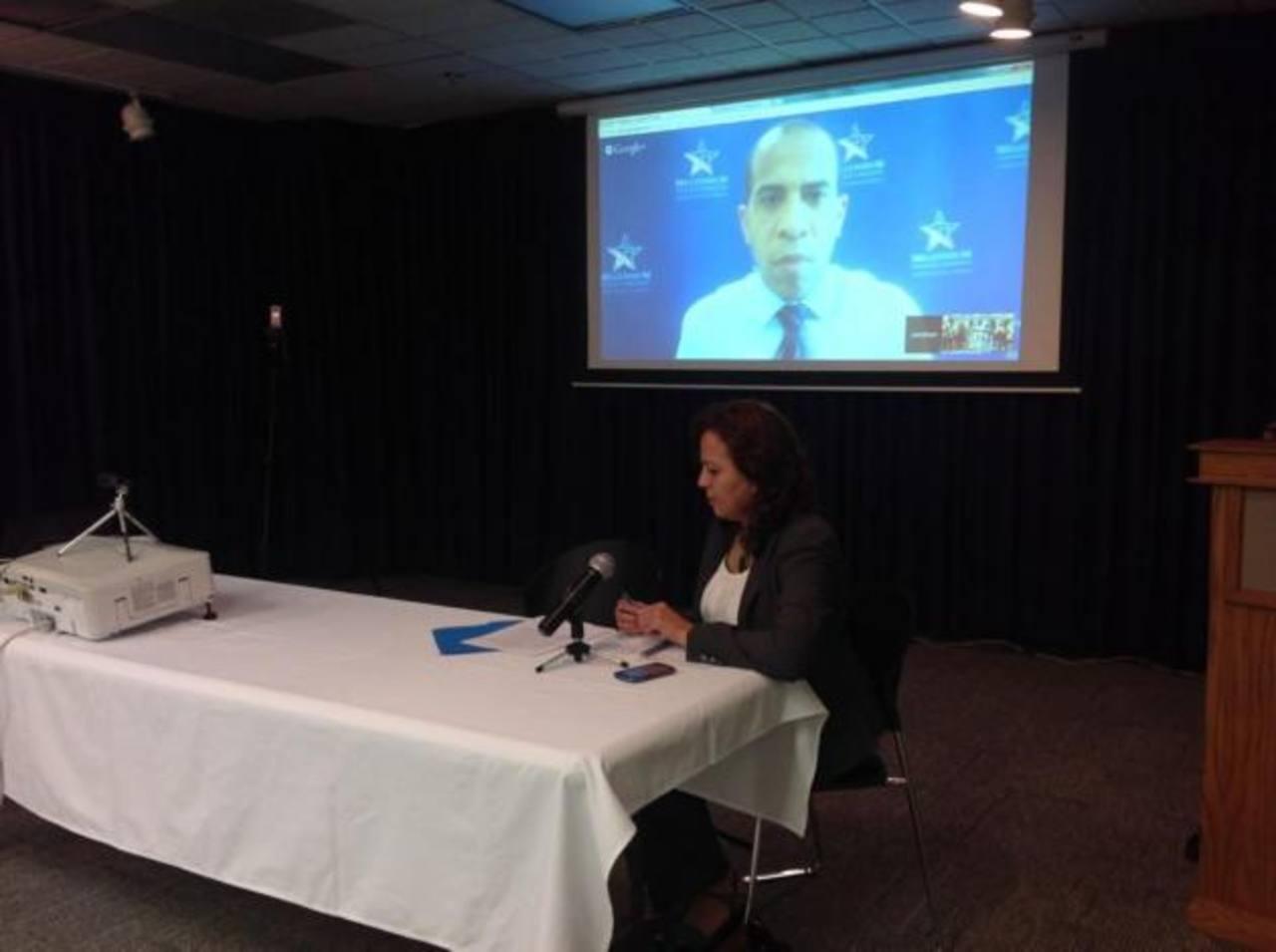 En la video conferencia participa Jonathan Brooks, director de Operaciones para Europa, Asia y Latinoamérica de MCC desde Washington.