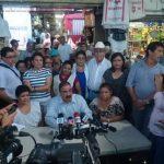Diputados de ARENA realizaron un recorrido por el Mercado Central.