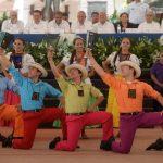 La Plaza Cívica José Simeón Cañas, en Zacatecoluca, fue el escenario de la inauguración del Mes Cívico por parte de las autoridades del Gobierno. foto edh / Marvín Recinos.