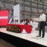 El presidente de la junta directiva de Aeroman, José Ruiz, anunció la expansión de las operaciones.