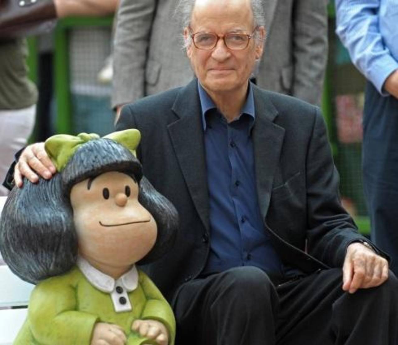 Quino con Mafalda, su creación