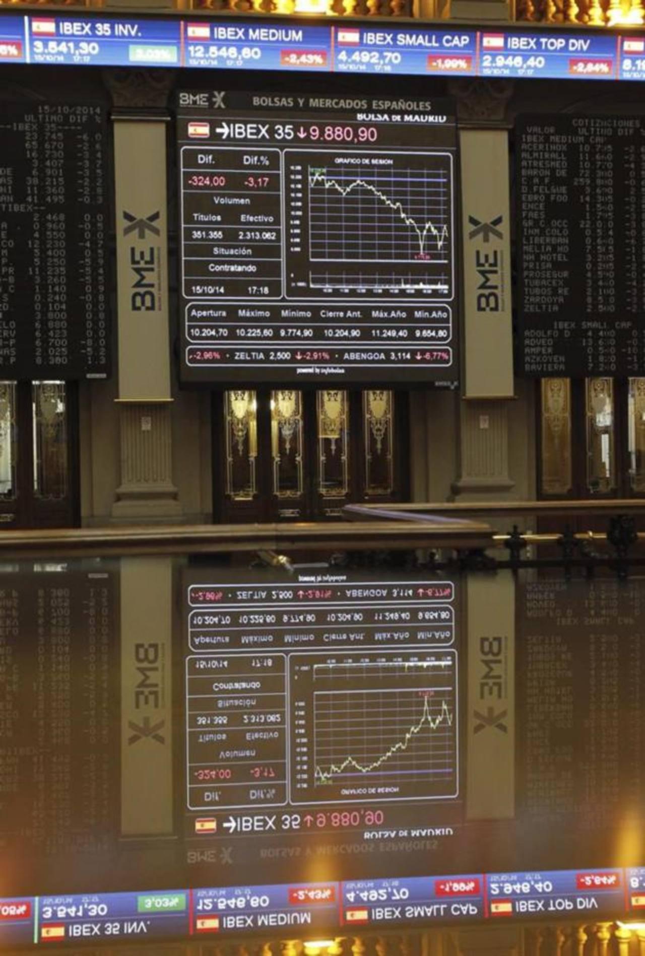 La bolsa española sufrió hoy una fuerte caída y su índice IBEX 35 perdió un 3,59 % o 366,40 enteros, hasta 9.838,50 puntos, arrastrada por el pánico desatado por el parqué de Atenas, que provocó una oleada de ventas en toda Europa.