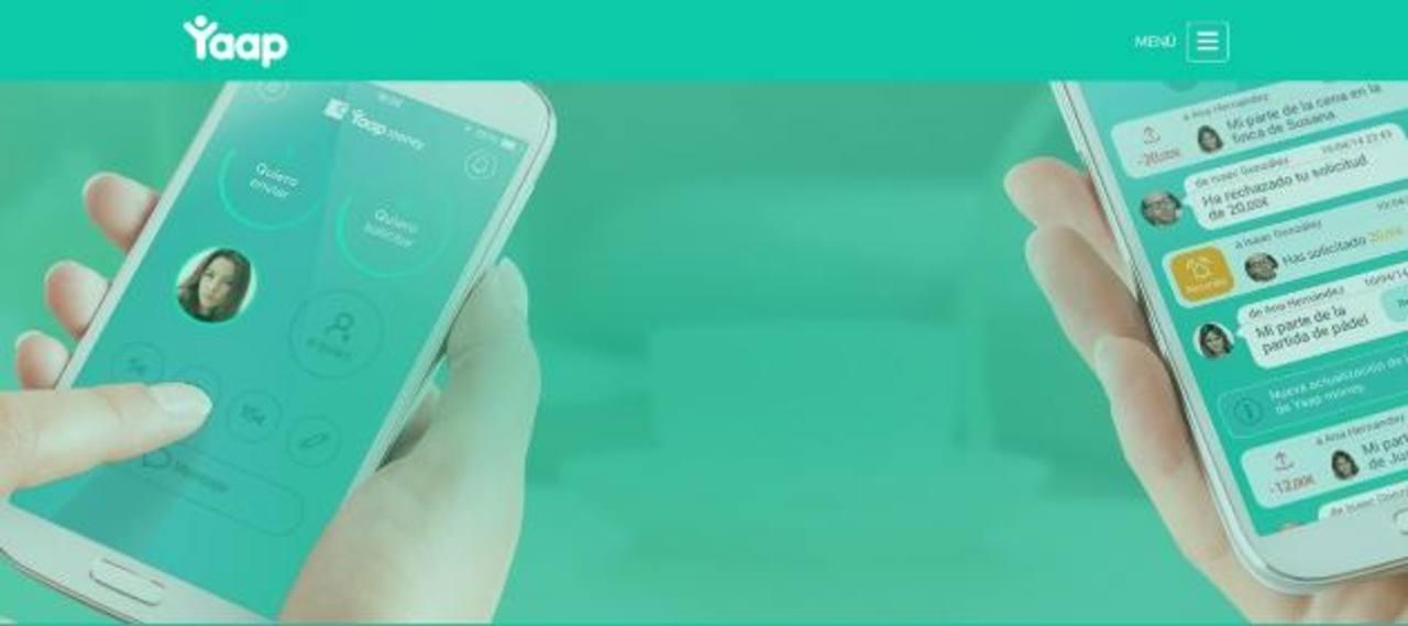 Así luce la aplicación Yaap Money al ser descargada en un Android, con funciones de envío y de recibo.
