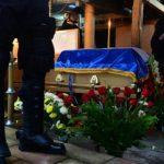 Agentes de la UMO custodian los restos de Johnny Stanley Rivas Martínez