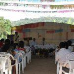 Alrededor de 150 feligreses participaron en la misa patronal del cantón. Foto EDH / CORTESÍA