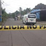 Escena de homicidio de policía en Lourdes Colón.