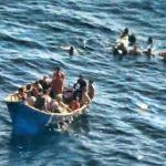 Todos los balseros cubanos fueron rescatados por la Guardia Costera de EE. UU. después de que su embarcación zozobró. fotos edh /Palm Beach County Sheriff's Office
