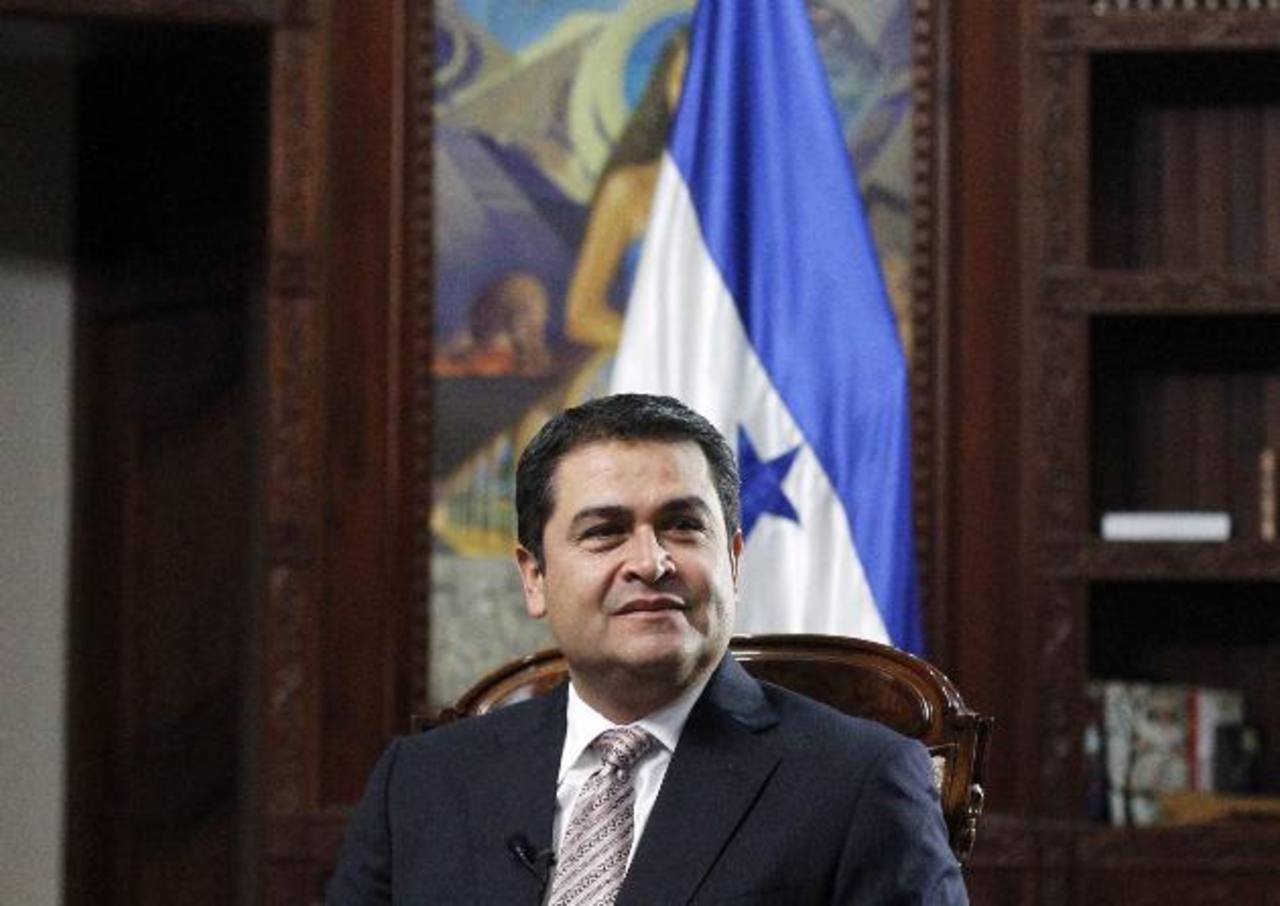 Juan Hernández, presidente hondureño visita México.
