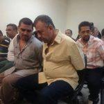 """Jorge Ernesto Ulloa Sibrián, alias """"El Repollo"""", y 16 personas más durante el juicio."""