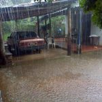 Reportan fuerte lluvia en San Lorenzo, Ahuachapán.