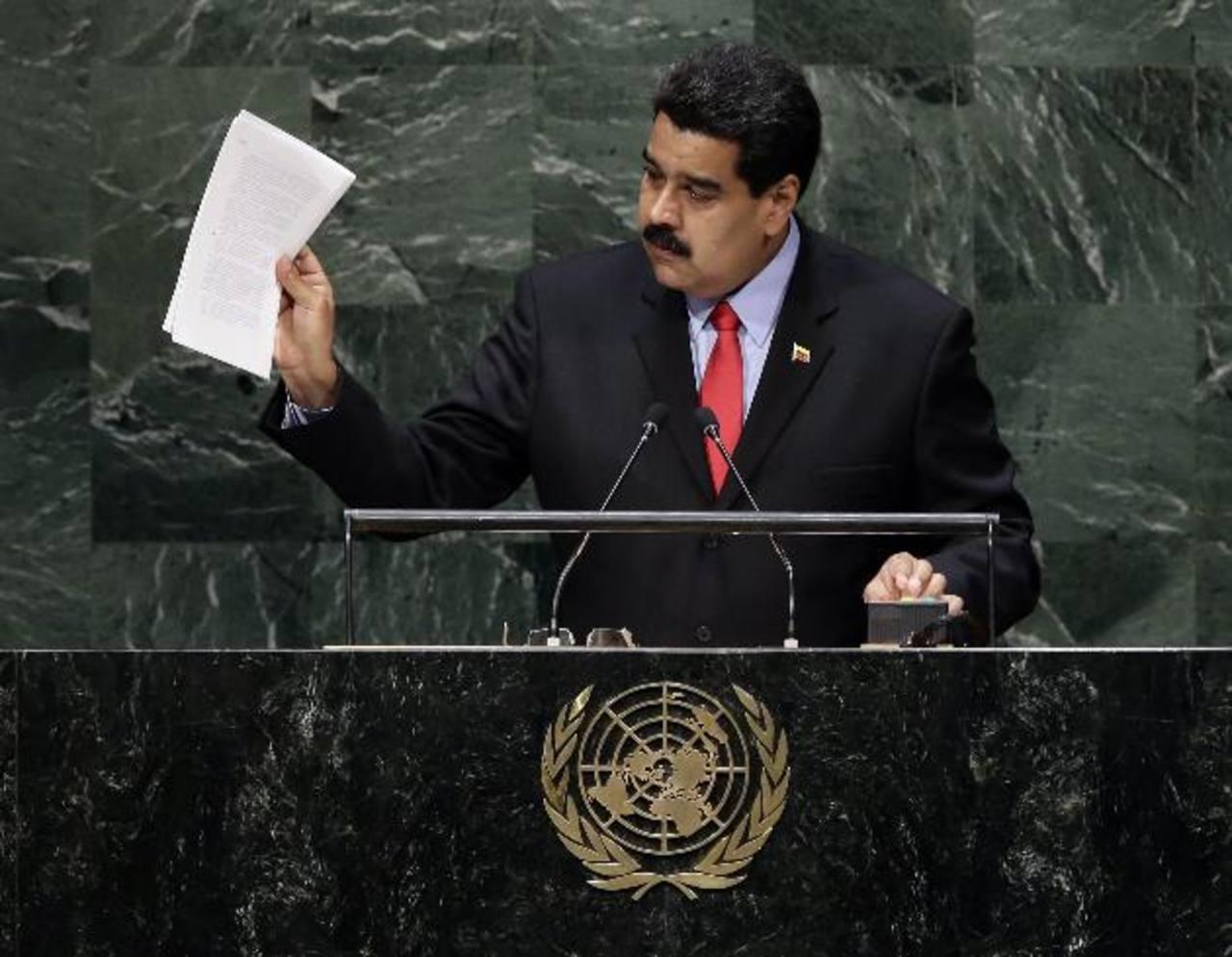 Nicolás Maduro, presidente de Venezuela, durante su intervención en la Asamblea de ONU el 24 de septiembre.