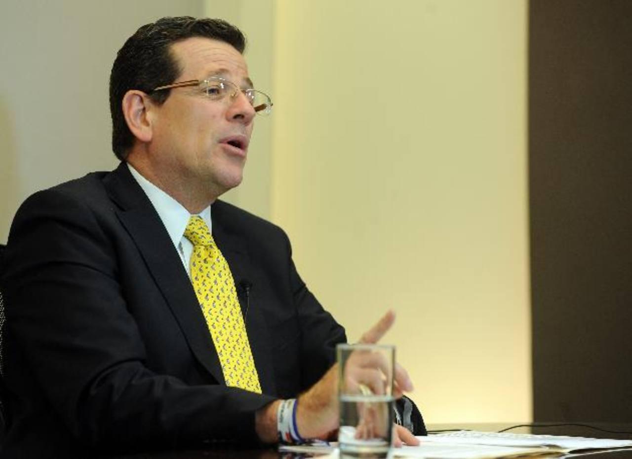 Jorge Velado, presidente de ARENA, señala que el domingo tendrán, a más tardar, el nombre del candidato. Foto EDH / archivo